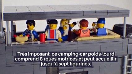 VIDÉO : LE GIGA-MOTORHOME LEGO À TOIT TERRASSE ET SLIDE-OUT ARRIÈRE