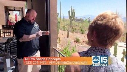All Pro Shade Concepts can install automated shades to keep your patio cool this summer