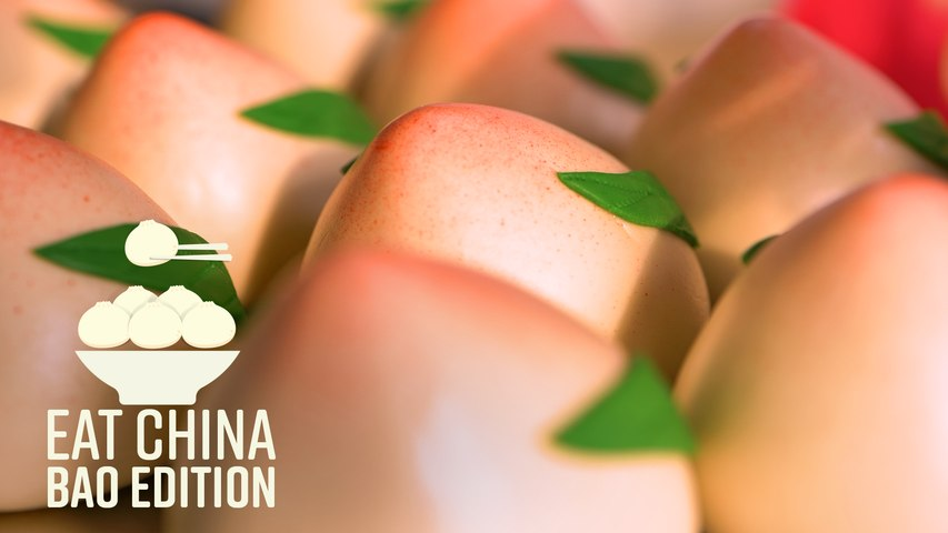 These Cute Peach Buns Are the Birthday Cakes of China - Eat China (S3E10)