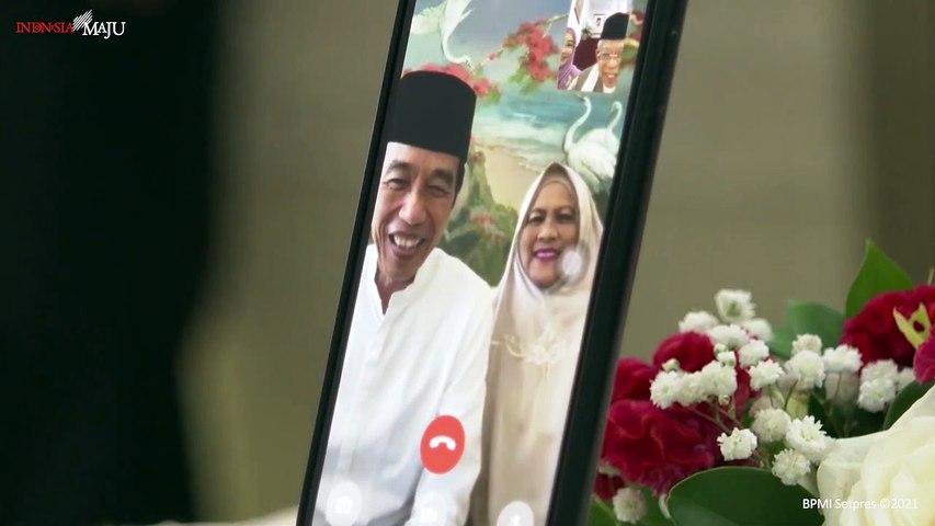 Obrolan Keluarga Jokowi dan Maruf Amin di Hari Lebaran