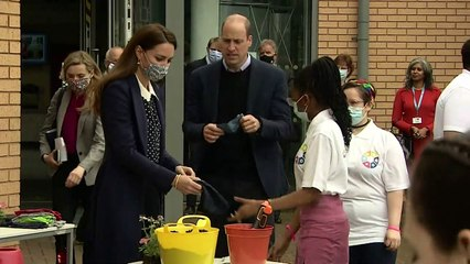 Prince William and Kate get active in Wolverhampton