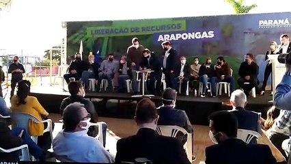 Ratinho Júnior anuncia pacote de obras em Arapongas