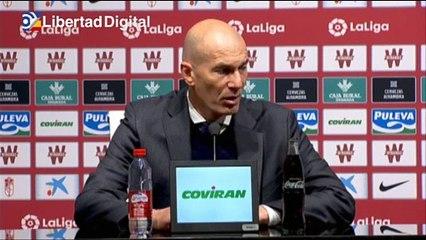 """Zidane tras el 1-4 al Granada: """"Vamos a dar todo hasta el último minuto"""""""