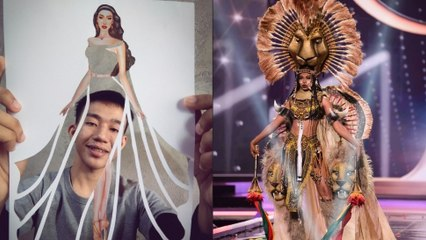 This 21-Year-Old Pinoy Student Designed Miss Universe Cameroon's National Costume