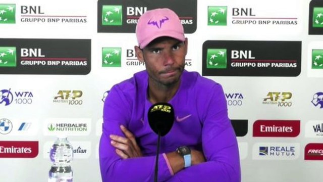 """ATP - Rome 2021 - Rafael Nadal : """"Reilly Opelka ? He's a very tough opponent to play. Super difficult. He has huge, huge serve"""""""