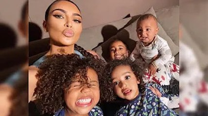 Kim Kardashian Keeps Children Busy and Creative Amid Kanye West Divorce
