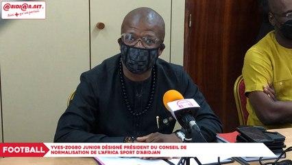 Football : Yves-Zogbo Junior désigné président du Conseil de Normalisation de l'Africa Sport d'Abidjan
