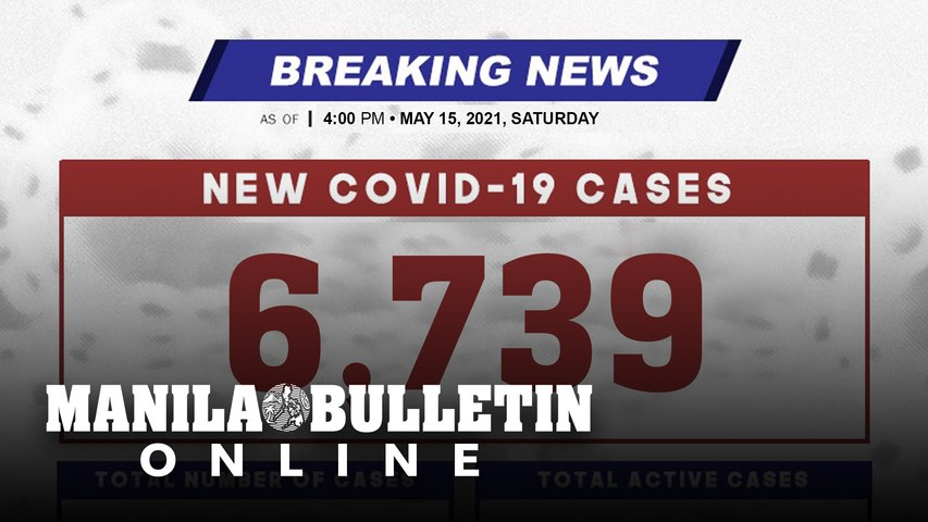 DOH reports 6,739 new cases, bringing the national total to 1,138,187, as of MAY 15, 2021