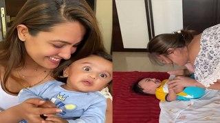 Anita Hassanandani बेबी के साथ खेलती हैं ये Game; Watch video | FilmiBeat