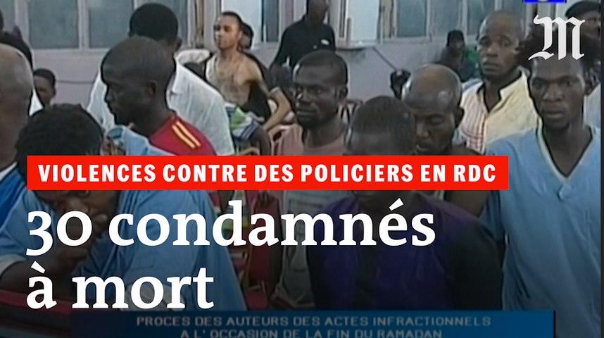 En RDC, trente condamnations à mort pour violences contre des policiers