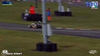 Une course de karting tourne au carnage à cause de la route mouillée...