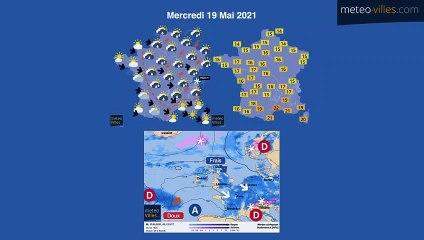 bulletin meteo du lundi 17 mai 2021