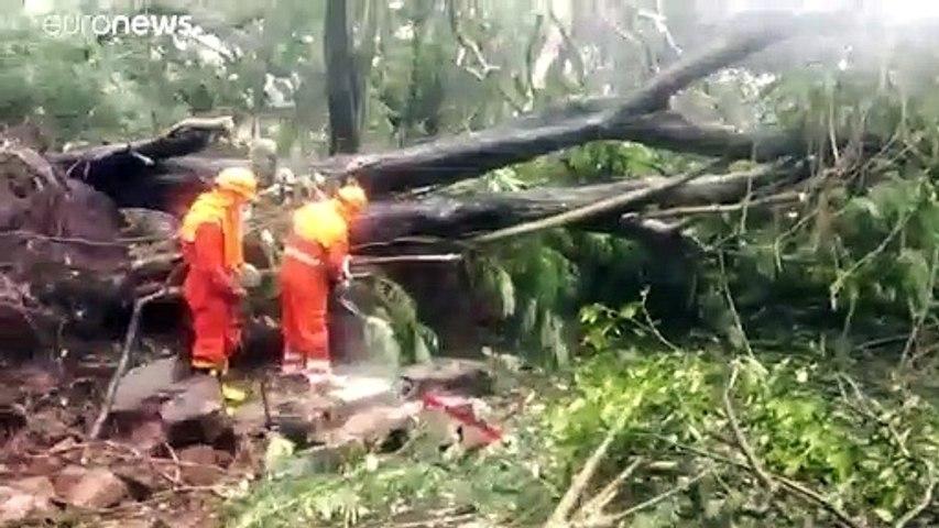شاهد: إعصار مدمر يضرب الهند المنهكة جراء فيروس كورونا