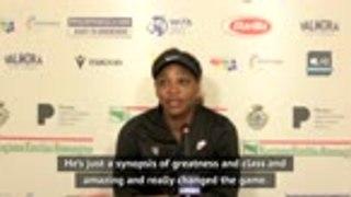 He is the 'greatest player' - Serena on Federer's Geneva return