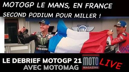 Une nouvelle victoire pour Miller. Zarco & Quartararo sur le podium - Debrief MotoGP 2021 (Motomag)