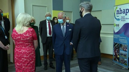 Prince Charles and Camilla meet with youth workers