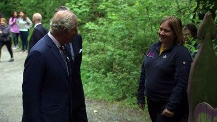Prince Charles enjoys trip to park outside Belfast