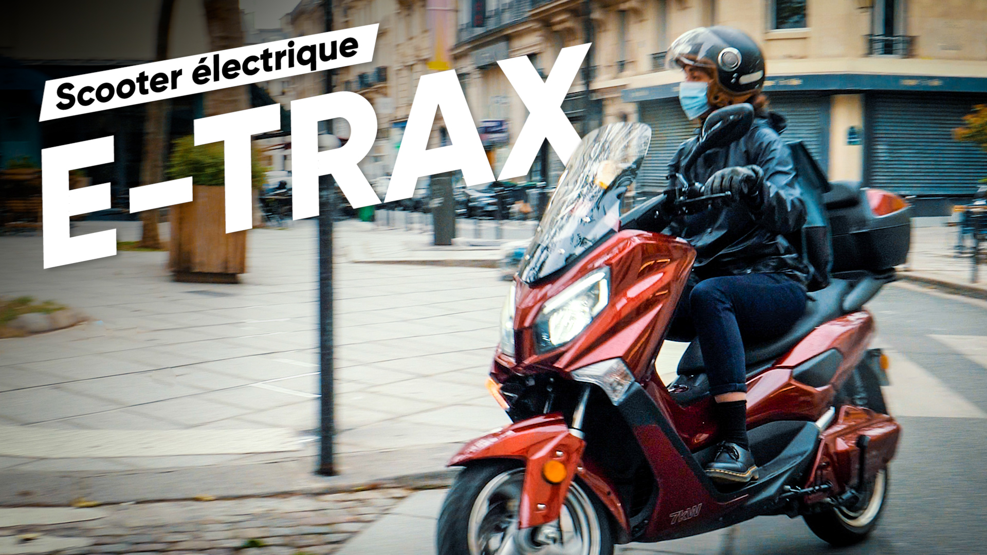 Test du e-trax : le « petit » maxi-scooter électrique