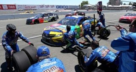 Who made out best on pit road at Sonoma Raceway?