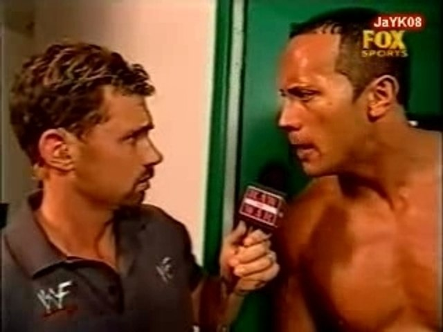 Michael Cole SEES THE ROCK NAKED