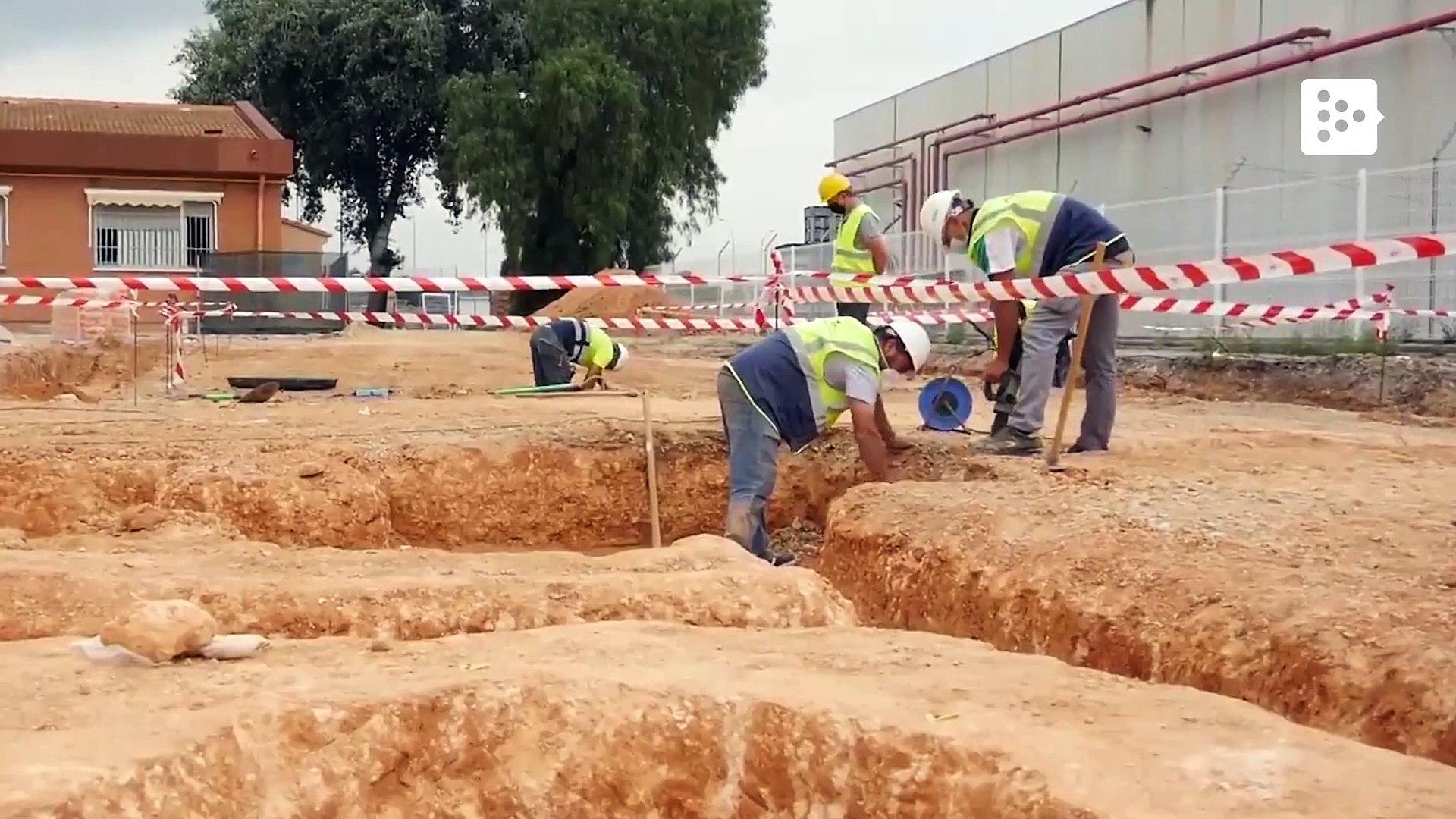 Workers find a Visigothic necropolis under a school in Spain