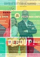 Pierre Polard et Laurie Baron, candidats aux élections départementales dans le canton de Saint-Pons-de-Thomières dans l'Hérault
