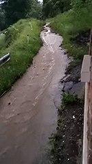 Lorsque la route des Canons (Namur) se transforme en torrent (02/06/2021)