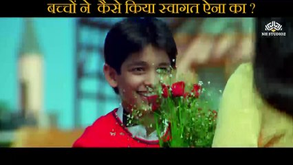 Children welcomes Aina Scene   Raju Chacha (2000)    Ajay Devgn    Rishi Kapoor   Kajol    Tiku Talsania   Smita Jaykar   Johnny Lever   Bollywood Movie Scene  