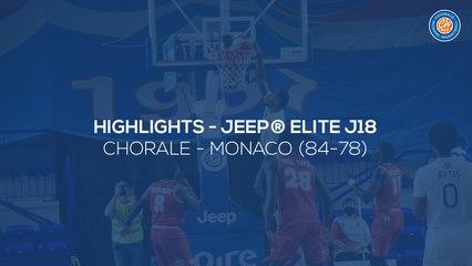2020/21 Highlights Chorale - Monaco (84-78, JE J18)