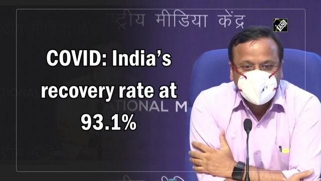 Covid: India's recovery rate at 93.1%