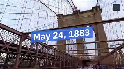 History : The Day The Brooklyn Bridge Opens