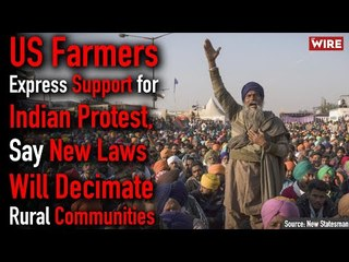 US Farmers Express Support for Indian Protest, Say New Laws Will Decimate Rural Communities | TWBR