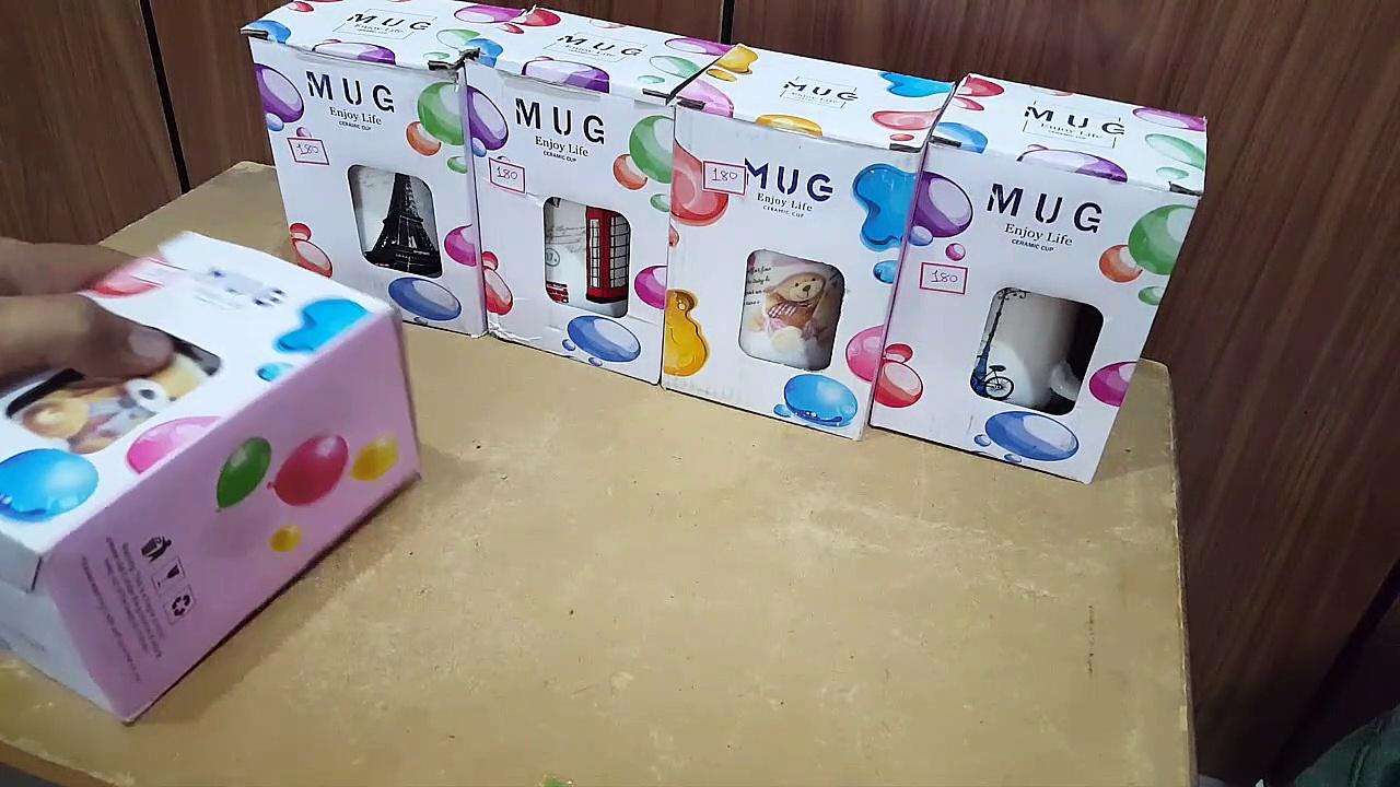 Unboxing and Review of Ceramic Coffee Mug with Lid with for Diwali Gift,Christmas Gift, Coffee Mug Ceramic Mug Valentine Gift Mug