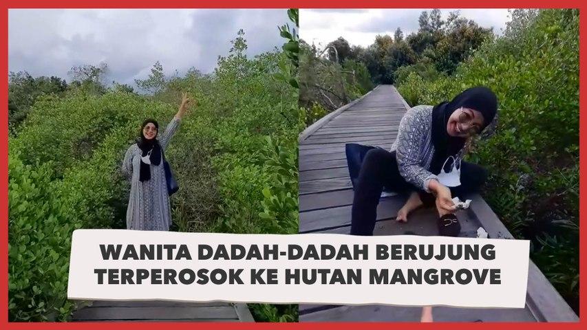 Viral Wanita Dadah-dadah Berujung Terperosok ke Hutan Mangrove, 'Malunya sampai Ubun-ubun'
