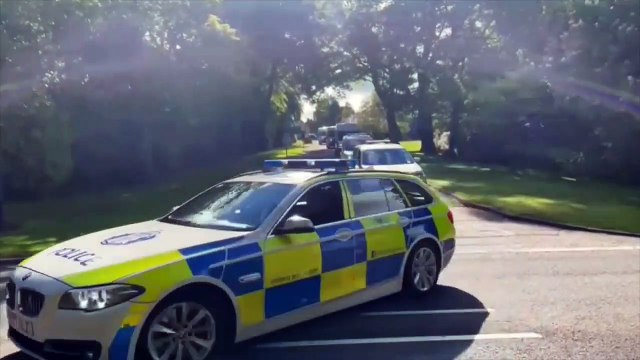 More than 200 officers have departed in convoy from Police Scotland's headquarters at Tulliallan to support Devon and Cornwall Police during the G7 Conference