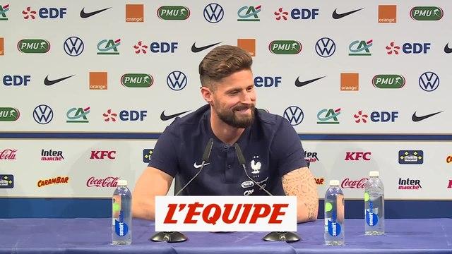 Giroud est « en paix » - Foot - Bleus