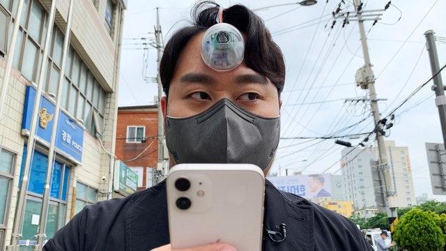 Un « troisième œil » pour éviter aux accros des smartphones de se prendre un panneau