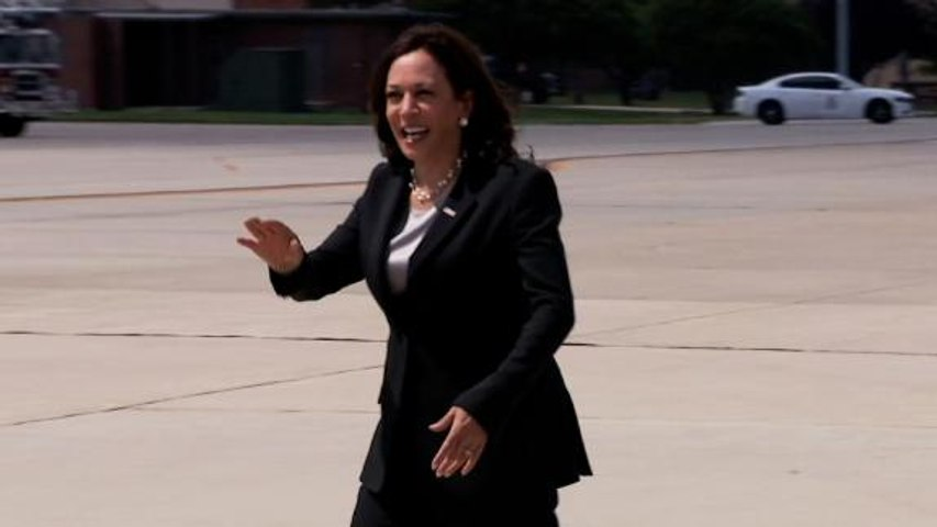 Kamala Harris' plane returns to air base after technical issue
