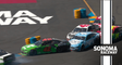 Aggressive driving at Sonoma brings out late caution, snares Harvick, Byron