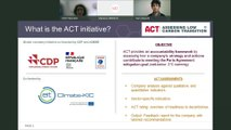 ACT – Assessing low-Carbon Transition: launch of the Chemicals methodology public consultation and road test with companies