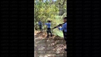 Policías hondureños disparan sus armas en lugares 'ilegaless'