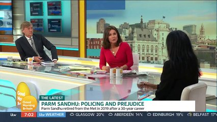 Former Chief Superintendent Parm Sandhu, one of Britain's most senior female Asian officers, has claimed the Metropolitan Police is 'institutionally racist' - Good Morning Britain