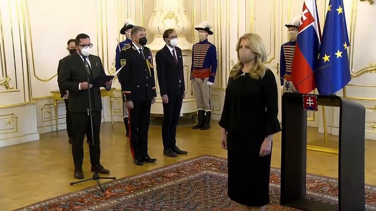 ZÁZNAM: Prezidentka SR Z. Čaputová vymenovala do funkcie nového ministra pôdohospodárstva S. Vlčana