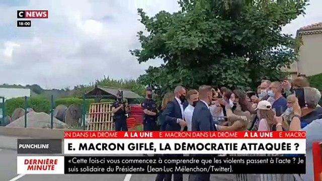 Emmanuel Macron giflé: Regardez l'agression du Président filmée sous un autre axe alors qu'un homme le gifle lors de son bain de foule