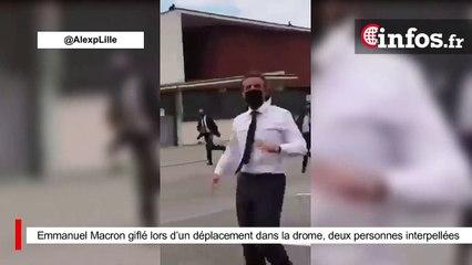 Emmanuel Macron giflé lors d'un déplacement dans la drome, deux personnes interpellées