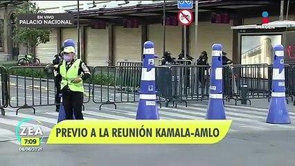Kamala Harris se reunirá esta mañana con López Obrador en Palacio Nacional