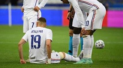 France / Bulgarie : Karim Benzema sort sur blessure, à une semaine de l'Euro