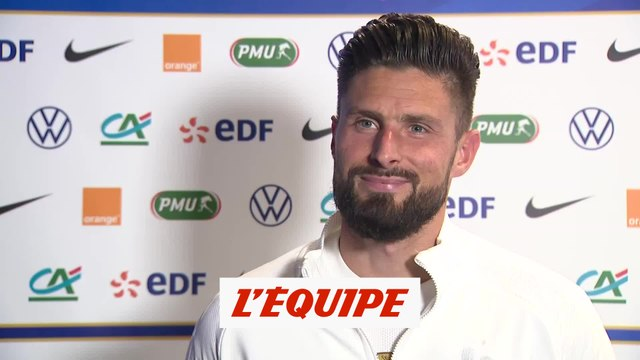 Giroud : «Des fois, les ballons n'arrivent pas» - Foot - Bleus