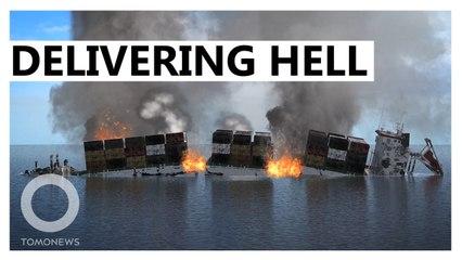 Burning Ship Dumps Hell on Sri Lanka's Pristine Beaches