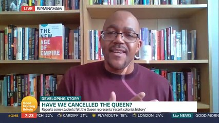 """Good Morning Britain - An Oxford University students' group has voted to take down a portrait of the Queen from its common room because some students believe she represents """"recent colonial history"""""""